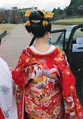 地毛結いの日本髪